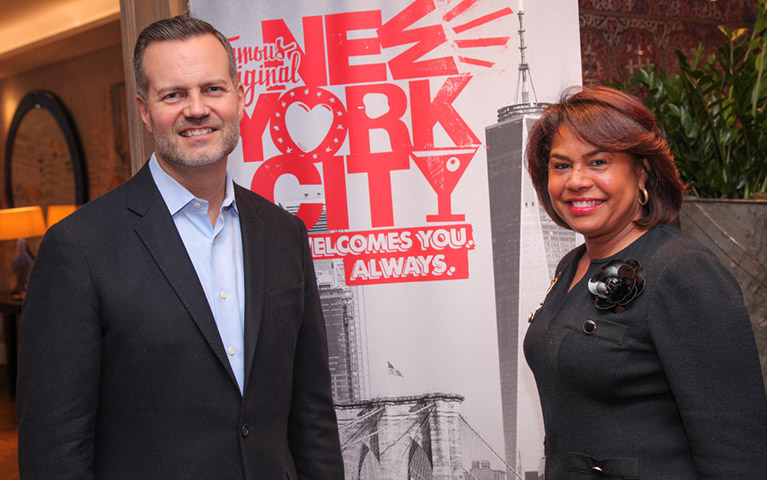 Fred Dixon, President & CEO NYC & Co with Julie Coker, CEO and President of Philadelphia Conventions & Visitors Bureau